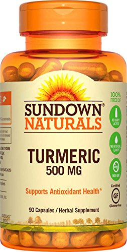 Sundown Naturals Turmeric Curcumin 500 mg, 90 Capsules
