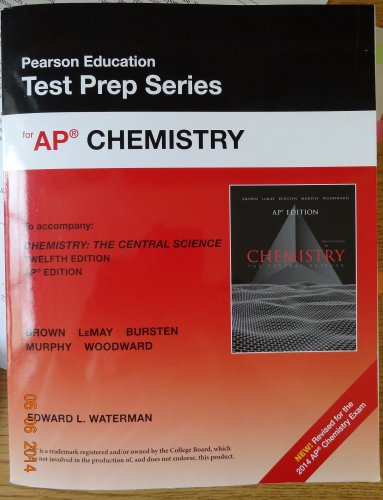 Pearson Education Test Prep Series for AP Chemistry (New - Revised for the 2014 AP Chemistry Exam)