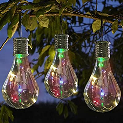 Highpot LED Solar Light Lamp Waterproof Rotatable Bulb For Outdoor Garden Camping Hanging