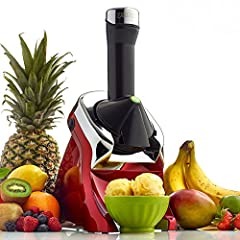 The Yonanas Elite is the ultimate Yonanas experience. It is the strongest, most quiet and durable Yonanas maker available. Yonanas turns frozen fruit and other flavorings into a delicious, healthy soft-serve treat. The unit combines frozen ba...