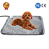Pet Heating Pad Bed Mat Dog Cat Electric Heating Pad Waterproof Adjustable Warming Mat with Chew Resistant Steel Cord (M - Letters)