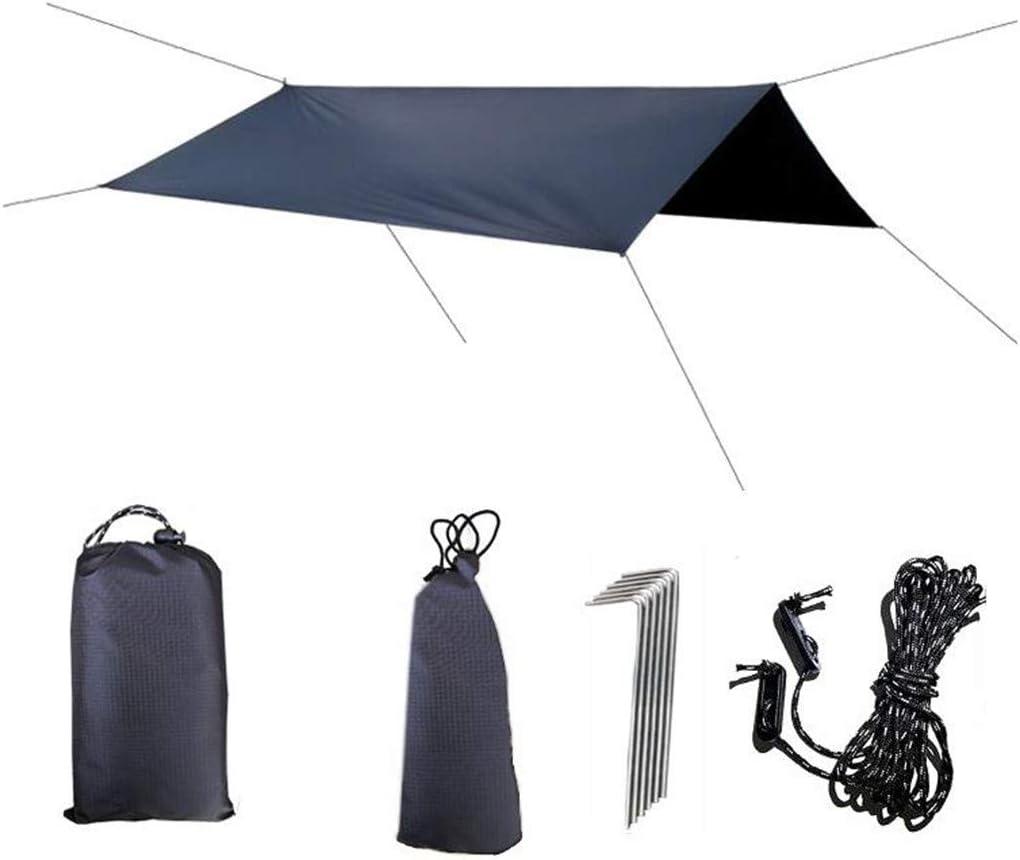 Camping Backpacking Black Multifunctional Canopy Camping Supplies Shade Cloth Waterproof UV Block for Hiking m/·kvfa Outdoor Shade Sails