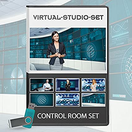 HD Control Room - News Production Background Kit