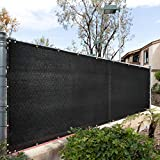 Royal Shade 4' x 10' Black Fence Privacy Screen