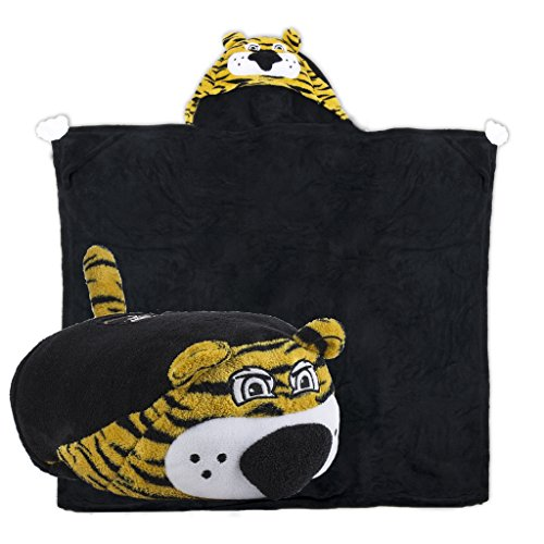 Comfy Critters Stuffed Animal Blanket - College Mascot, University of Missouri 'Truman The Tiger' - Kids Huggable Pillow and Blanket Perfect for The Big Game, Tailgating, Pretend Play, and Much More.