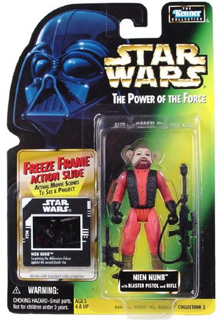 Star Wars The Power of the Force Nien Nunb Action Figure, 3.75 Inches