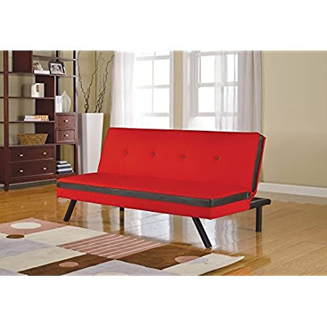 ACME Furniture 57108 Penly Adjustable Sofa Red Black PU