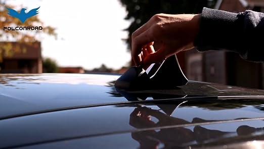 FOLCONROAD Car Auto Shark Fin Antenna Roof Aerial Base Radio Signal Gold Dipuao