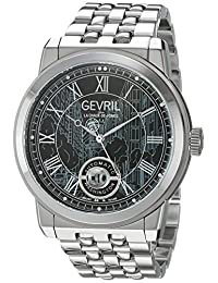 Gevril Men's 'Washington' Swiss Automatic Stainless Steel Casual Watch, Color:Silver-Toned (Model: 2621B)