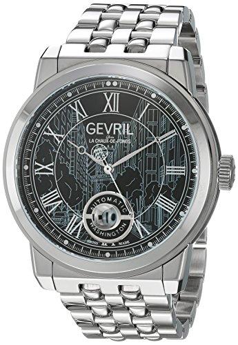 Gevril Washington Men's Swiss Automatic Stainless Steel Bracelet Watch, (Model: 2621B)