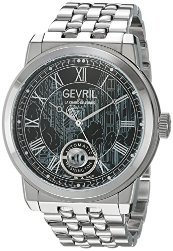 Gevril Washington Men's Swiss Automatic Stainless Steel Bracelet Watch, (Model: 2621B) ()