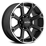 Ultra Spline 17 Black Wheel / Rim 6x5.5 with a 10mm Offset and a 106.1 Hub Bore. Partnumber 245-7883SB+10