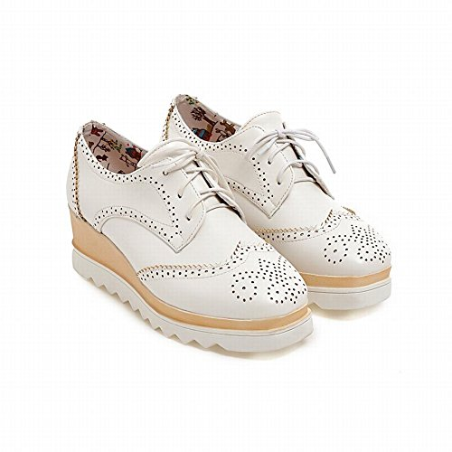 Damesmode Retro Retro-up Comfort Sleehak Oxfords Schoenen Wit