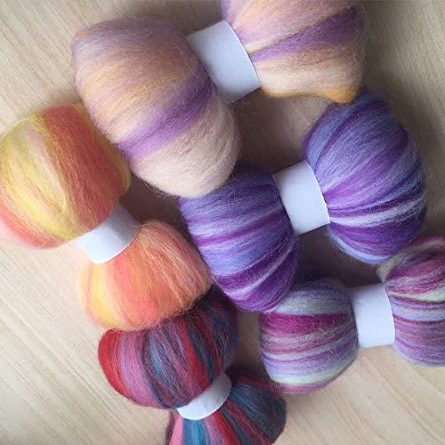 Maslin Ceramic Fibre Wool feltro Mixed feutrine naaldvilten Lana Merino Wool Fibre roving for Needle feling kit Wool DIY crafa 50g/Bag