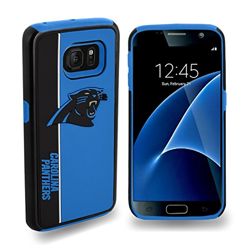 Forever Collectibles Dual Hybrid BOLD Series Case for Samsung Galaxy S7 - NFL Carolina Panthers