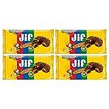 Keebler, Fudge Shoppe, Jif Peanut Butter Cookies, 8oz Bag (Pack of 4)
