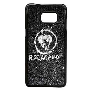 Rise Against Logo Roca Hardcore Grupo 100351 Samsung Galaxy S6 Edge + Plus caja del teléfono celular funda Negro caja del teléfono celular Funda Cubierta EEECBCAAL77595