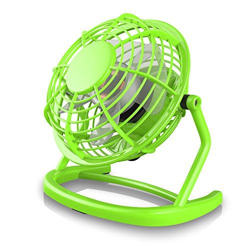 CSL - USB Ventilator   Tischventilator / Fan / Lüfter   optimal für den Schreibtisch inkl. An/Aus-Schalter   PC / MAC / Notebook   in grün