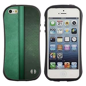 Suave TPU GEL Carcasa Funda Silicona Blando Estuche Caso de protección (para) Apple Iphone 5 / 5S / CECELL Phone case / / Vertical Lines Green Pastel Calm /