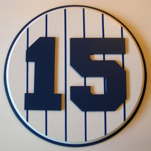 Retired Number 15 Plaque Yankees Thurman Munson - large (Plaques Yankee Stadium)