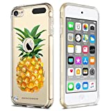 ipod 5 bumpers with clear back - iPod Touch 5 Case,iPod 6 Touch Case,BENTOBEN Clear Slim Shockproof Pineapple Pattern Scratch Resistant Hybrid Soft TPU Bumper Hard PC Back Cover Protective Case for iPod Touch 5th/6th Generation,Clear