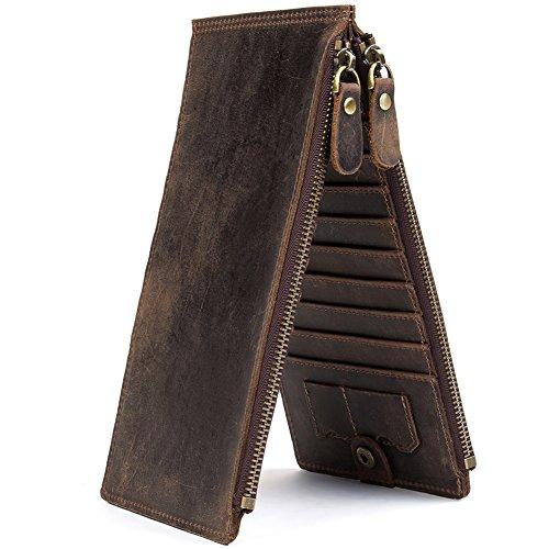 Credit Card Wallet for Men Best Hunter Leather Coin Purse Bifold Wallet - WESTBRONCO
