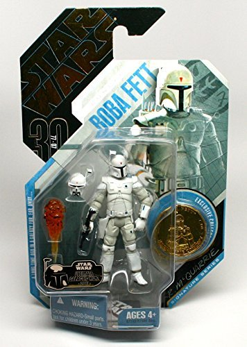ULTIMATE GALACTIC HUNT GOLD CHASE PIECE * Concept Boba Fett #15 * Ralph McQuarrie Signature Series Star Wars 30th Anniversary Series 2007 Action Figure & Exclusive Gold Collector Coin ()