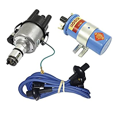 SCREAMER KIT BLUE, WITH EMPI 9441-B ELECTRONIC 009 DISTRIBUTOR & BOSCH BLUE COIL, FOR VW BUG, BEETLE, GHIA, BUS, TYPE 3: Automotive