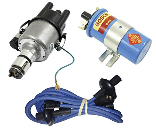 (SCREAMER KIT BLUE, WITH EMPI 9441-B ELECTRONIC 009 DISTRIBUTOR & BOSCH BLUE COIL, FOR VW BUG, BEETLE, GHIA, BUS, TYPE 3)