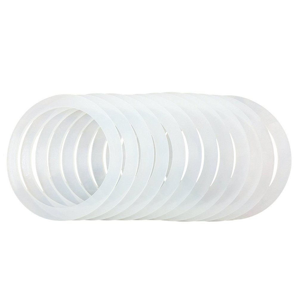 12 PCS Silicone Gasket Sealing Rings for Wide Mouth Mason Jar/Ball Plastic Storage Cap, Reusable Food-Grade Airtight Rubber Seal for Caning Jar Plastic Lids