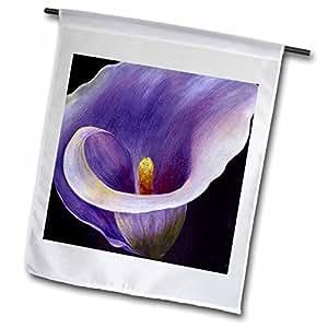 Arte de acrílico Taiche flores–Purple Calla Lilies–banderas