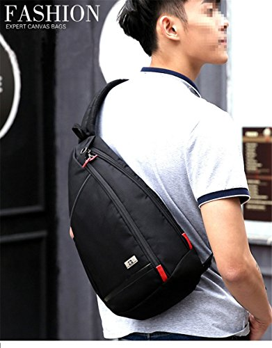 Black chest messenger Summer Swiss shoulder small anti Color leisure hot short men travel handbags Large Black package GOWOLD waterproof mobile theft Crossbody OIRZFwB