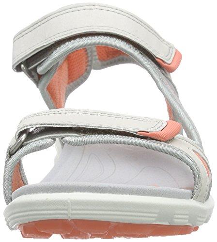 59553shadow Sandales Cruise Grey Coral Femme de Ecco Sport White Silver Blanc agUYqq