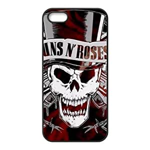 Kellie-Diy Guns And Roses Design Solid Rubber Customized Cover case cover for iPhone 5 9NDhhUce3HB 5s