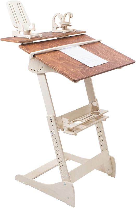 Adjust Standing Desk- Kontorka Stehpult Stehtisch Typ Dh Farbe komplett: Nussbaum hell Tisch h/öhenverstellbar Holz