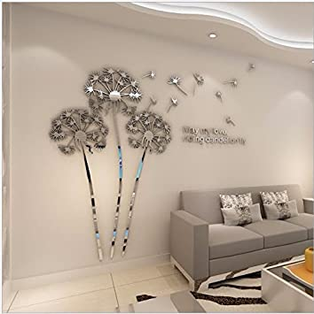 Wunderbar T Mida Home,Stereo 3D Acryl Spiegel Wandsticker DIY Mode Freie Kombination