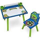 Delta Children Nickelodeon Teenage Mutant Ninja Turtles Art Desk with Dry-Erase Tabletop by