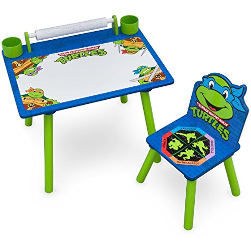 Delta Children Nickelodeon Teenage Mutant Ninja Turtles Art Desk with Dry-Erase Tabletop by