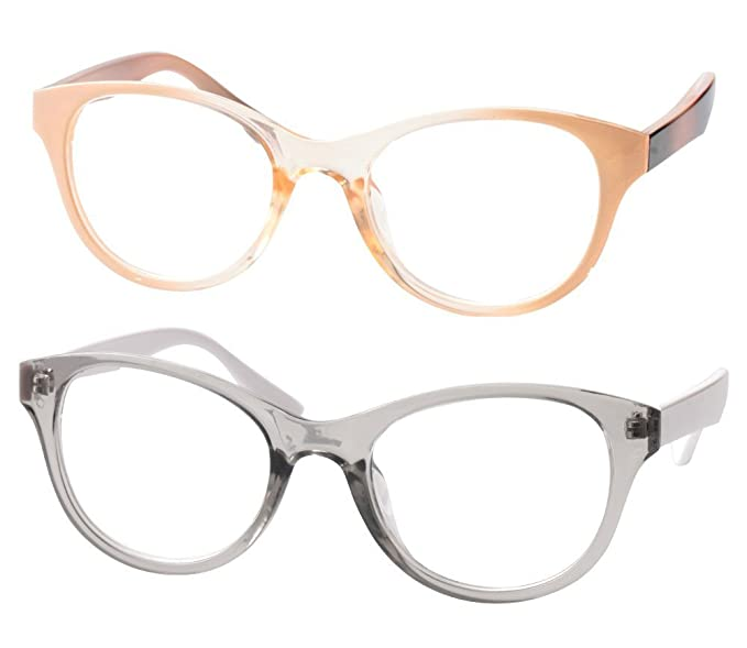 342f34ff47 SOOLALA Lovely Hit Color Oversized Clear Lens Eye Glasses Frame Wide  Reading Glasses