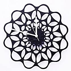 Wall Clock,Paperie contemporary western Wall Clock large,house with a Quiet Black Clock in its walls,12-Inches