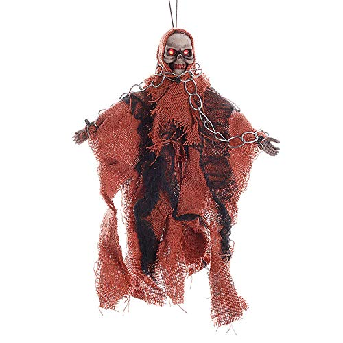 Halloween Flying Ghost Scary Creepy Hanging Floating Skeleton Ghost Halloween Animated Witch Halloween Haunted Shaking Ghost Dazzling Toys for Yard Bar Window Decoration Haunted House Yard Bar Props ()