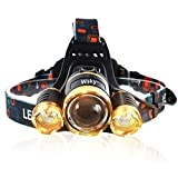 Wsky GDA-A01 5500 LM 3T6 LED 4-Mode Outdoor Headlamp Flashlight