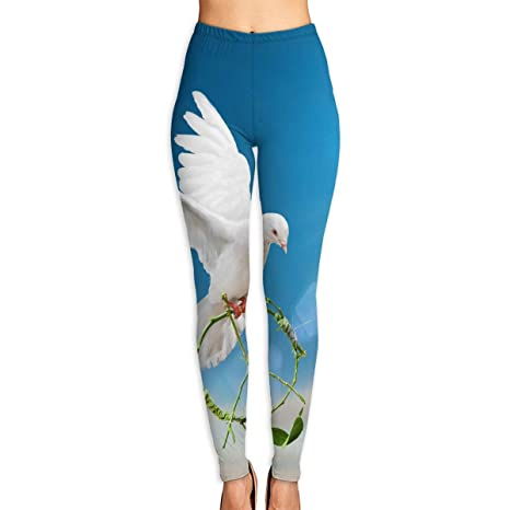 Amazon.com: Cooby Roman Womens Yoga Leggings Pants Dove of ...