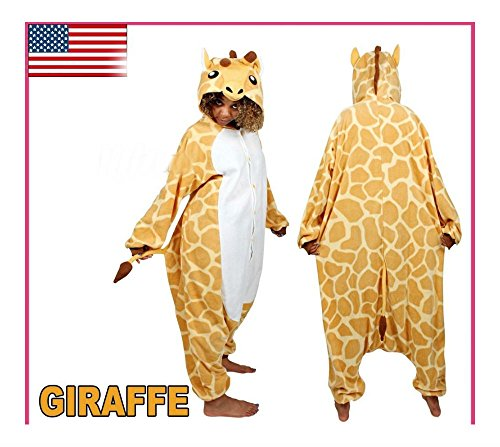 Unisex Adult Giraffe Kigurumi Costume Onesi Sleepsuit Animal Pajama Homewear (XL) from Unknown