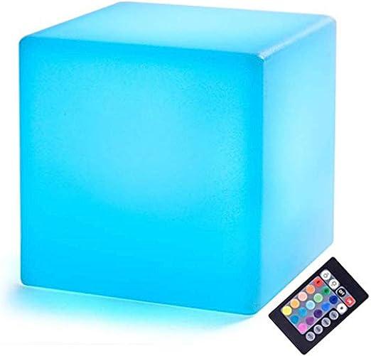 Cubos LED | Lámpara de noche de 3.9 pulgadas con pilas y control remoto | Lámpara