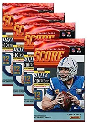 2019 Score NFL Football Four (4) Factory Sealed Packs with 12 Cards Each!