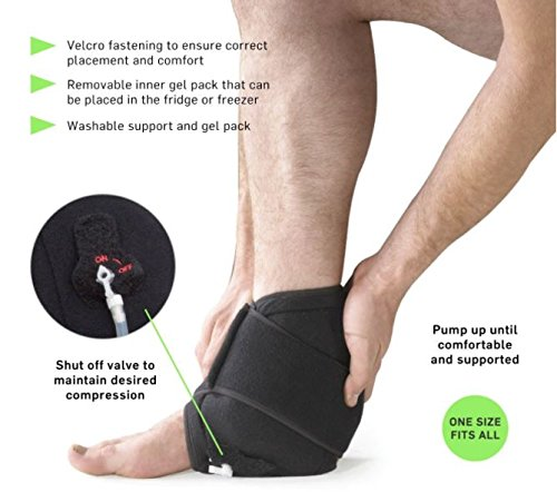 O2 Cold Therapy Ankle Wrap with Air Compression, Universal
