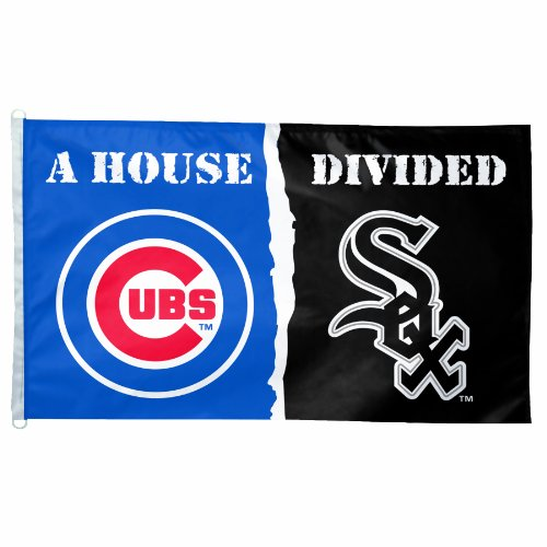 """MLB Chicago Cubs and Chicago White Sox """"House Divided"""" 3-by-5 Foot Flag"""