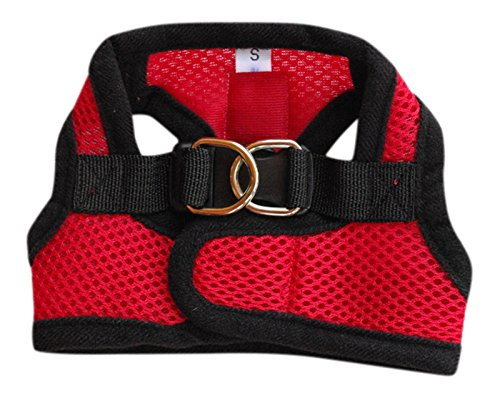 Mesh Dog Harness and Leash Set with Adjustable Velcro Collar for No