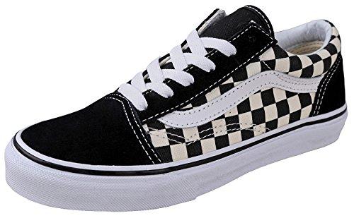 Vans Kids K Old Skool Primary Check Black White Size 2